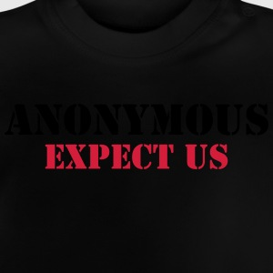Anonymous : Expect us Shirts - Baby T-shirt