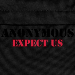 Anonymous : Expect us T-Shirts - Kinder Rucksack