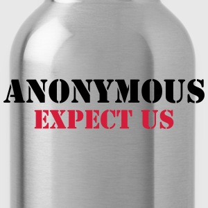 Anonymous : Expect us T-shirts - Vattenflaska