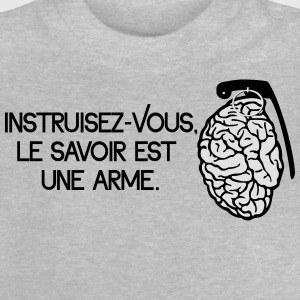 Le savoir est une arme - knowledge is a weapon Skjorter - Baby-T-skjorte