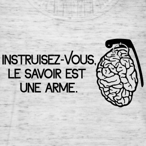 Le savoir est une arme - knowledge is a weapon Puserot - Naisten tankkitoppi Bellalta