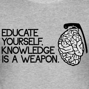 knowledge is a weapon Gensere - Slim Fit T-skjorte for menn