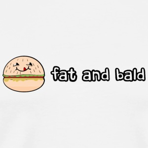 Fat and bald badges - Men's Premium T-Shirt