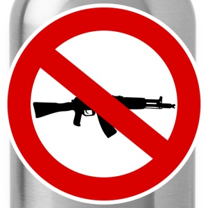 Weapons prohibition sign T-Shirts - Water Bottle