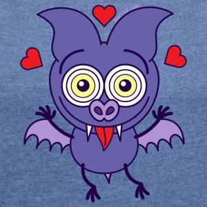 Bat feeling madly in love Hoodies & Sweatshirts - Women's T-shirt with rolled up sleeves