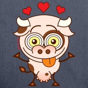 Cute cow falling madly in love Hoodies & Sweatshirts - Shoulder Bag made from recycled material
