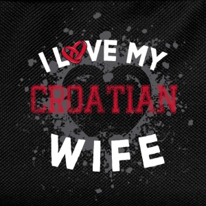 I Love My Croatian Wife Mugs & Drinkware - Kids' Backpack