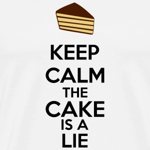 Keep Calm The Cake Is A Lie Mugs & Drinkware - Men's Premium T-Shirt