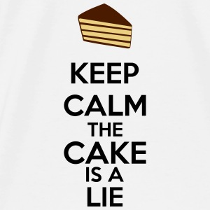 Keep Calm The Cake Is A Lie Autres - T-shirt Premium Homme