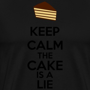 Keep Calm The Cake Is A Lie Tabliers - T-shirt Premium Homme