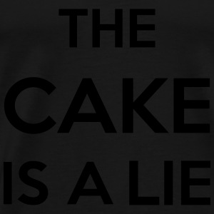 The Cake Is A Lie Sportkleding - Mannen Premium T-shirt