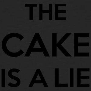 The Cake Is A Lie Bags & Backpacks - Men's Premium Longsleeve Shirt