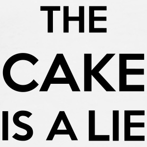The Cake Is A Lie Overig - Mannen Premium T-shirt
