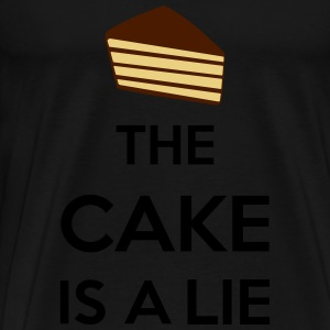 The Cake Is A Lie Long sleeve shirts - Men's Premium T-Shirt