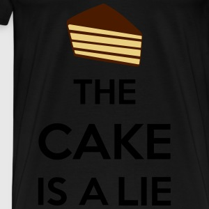 The Cake Is A Lie Sweaters - Mannen Premium T-shirt