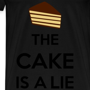 The Cake Is A Lie Sweat-shirts - T-shirt Premium Homme