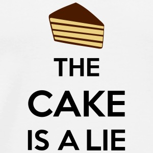 The Cake Is A Lie Mugs & Drinkware - Men's Premium T-Shirt