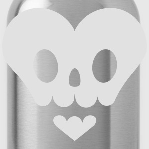 Skull in heart shape T-Shirts - Water Bottle