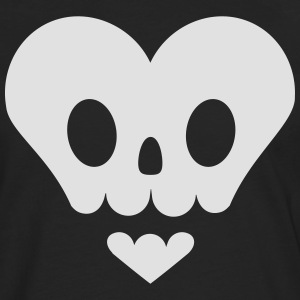 Skull in heart shape T-Shirts - Men's Premium Longsleeve Shirt