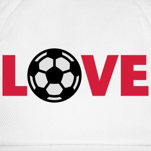 Voetbal – Love (I Love Football) T-shirts - Baseballcap