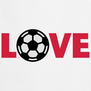 Fútbol – Love (I Love Football) Camisetas - Delantal de cocina