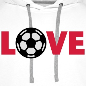 Football – Love (I Love Football) T-Shirts - Men's Premium Hoodie