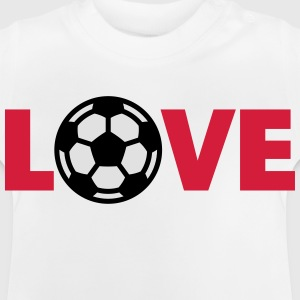 Voetbal – Love (I Love Football) Shirts - Baby T-shirt