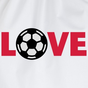 Football – Love (I Love Football) Shirts - Drawstring Bag