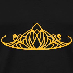 An ornament in the style of a Tiara Hoodies - Men's Premium T-Shirt