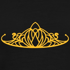 An ornament in the style of a Tiara Tops - Men's Premium T-Shirt