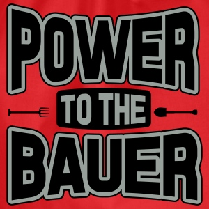 Power to the Bauer Shirts - Drawstring Bag