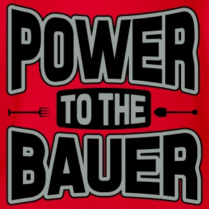 Power to the Bauer Shirts - Baby bio-rompertje met korte mouwen