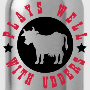 Plays well with udders T-shirts - Drikkeflaske