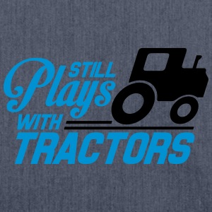 Still plays with tractors T-shirts - Schoudertas van gerecycled materiaal