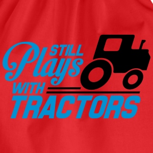 Still plays with tractors T-Shirts - Drawstring Bag