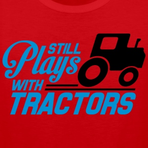 Still plays with tractors T-Shirts - Men's Premium Tank Top