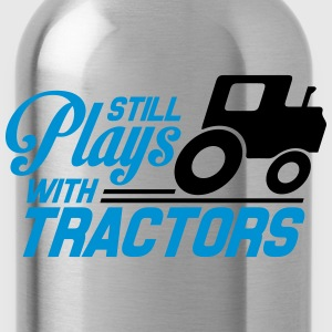 Still plays with tractors T-shirts - Drikkeflaske