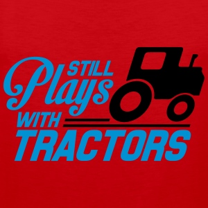 Still plays with tractors T-shirts - Herre Premium tanktop