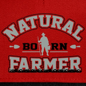 Natural born farmer Shirts - Snapback Cap