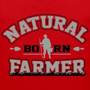 Natural born farmer Shirts - Men's Premium Tank Top