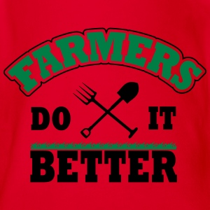 Farmers do it better T-shirts - Kortærmet babybody, økologisk bomuld