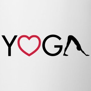 Yoga - Heart - Downward Dog Bolsas y mochilas - Taza