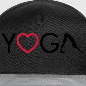 Yoga - Heart - Downward Dog Hoodies & Sweatshirts - Snapback Cap
