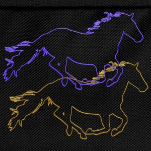 Horses Outlined - Kids' Backpack