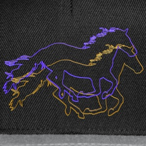 Horses Outlined - Snapback Cap