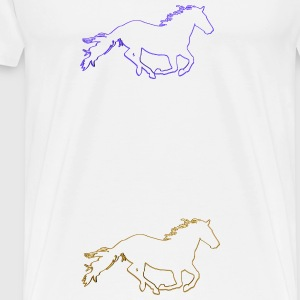 Horses Outlined - Men's Premium T-Shirt