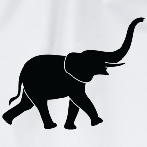 Een grote olifant met trunk Shirts - Gymtas