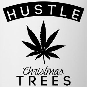 hustle christmas trees Tee shirts - Tasse
