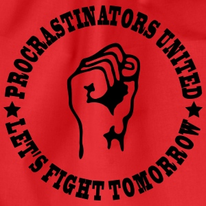 Procrastinators united T-shirts - Gymnastikpåse