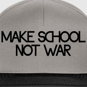 make school not war Sweatshirts - Snapback Cap